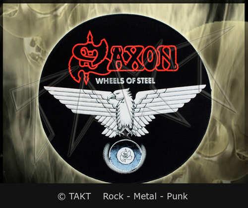 Nášivka kulatá Saxon - wheels Of Steel