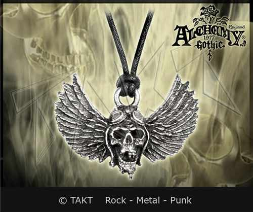 Přívěšek Alchemy Airbourne - winged Skull