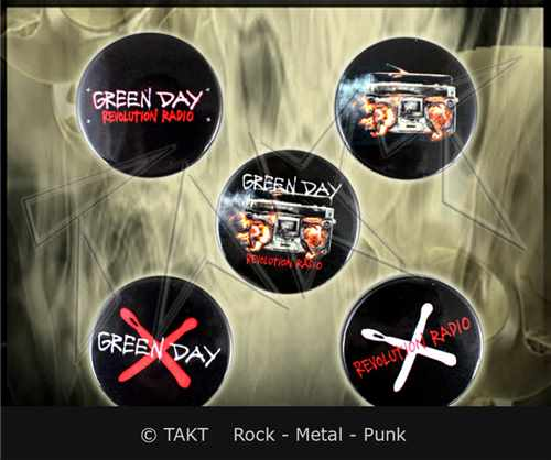 Placka Green Day - revolution Radio sada 5 ks