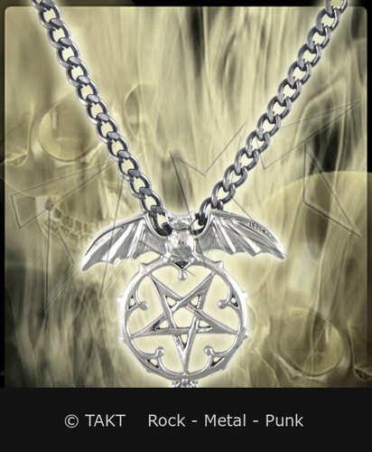 Přívěšek Pentagram 23 netopýr