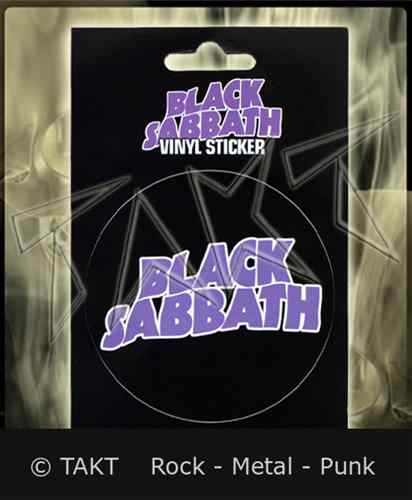 Samolepka Black Sabbath - logo Purple Vinyl
