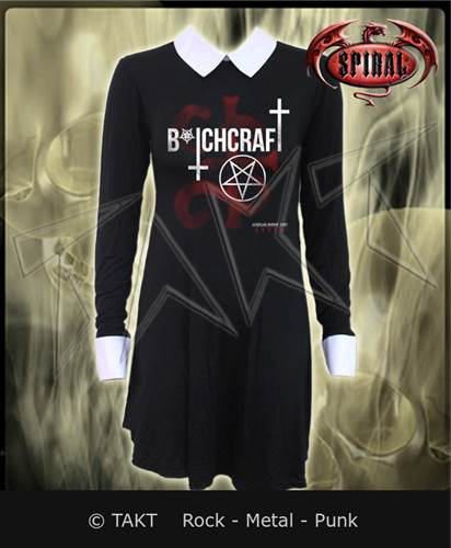 Šaty Bitchcraft Collar Baby Doll