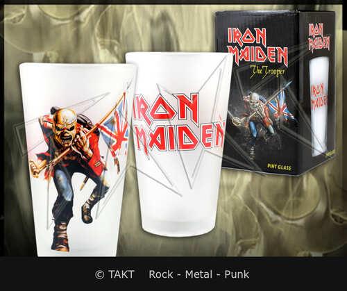 Sklenka na pivo Iron Maiden - the Trooper