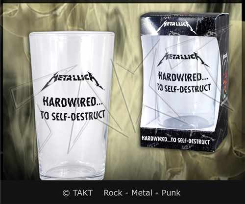 Sklenka na pivo Metallica - hardwired.  .  .  To Self - Destruct