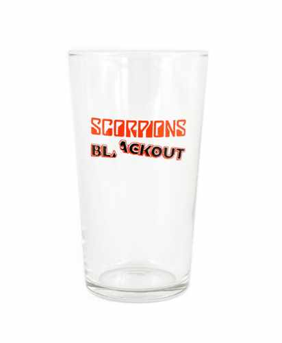 Sklenka na pivo Scorpions - blackout
