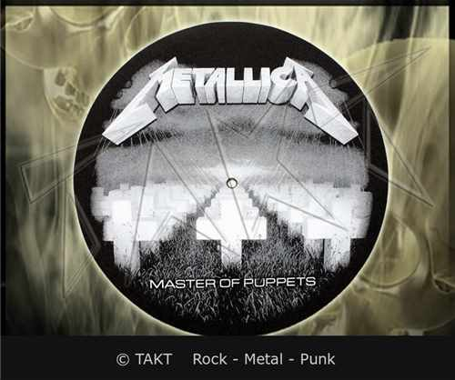 Slipmat Metallica - master Of Puppets - dekorace do gramofonu