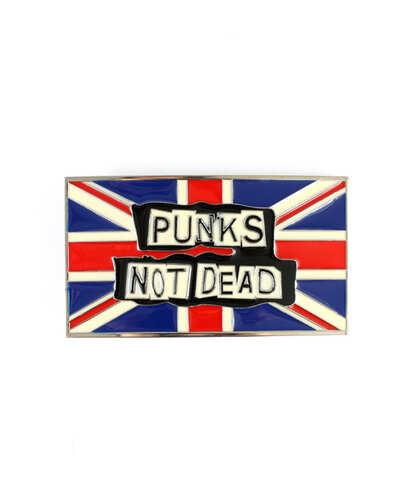 Spona na opasek Punks Not Dead Vlajka Uk