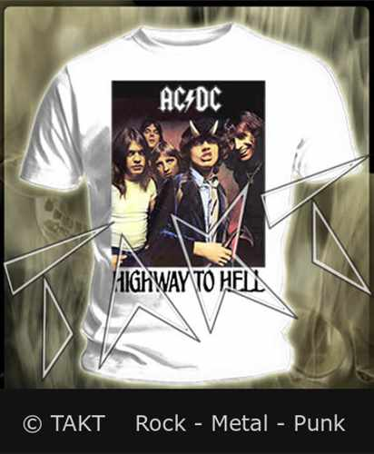 Tričko AC/ DC - Highway To Hell Imp.  White