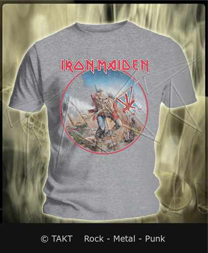 Tričko Iron Maiden - the Trooper 3 Grey Imp.