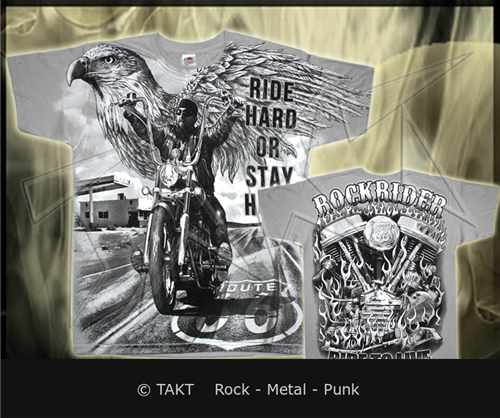 Tričko Ride Hard All Print Grey
