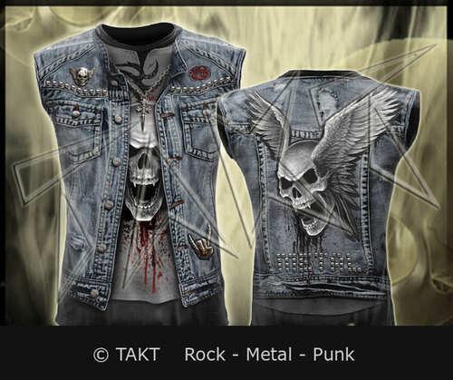 Tričko bez rukávu Trash Metal  - Imp.  Spiral Direct All Print