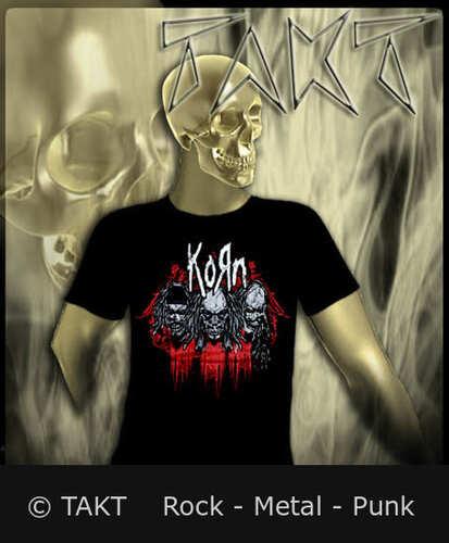 Tričko Korn - Band Skullz Imp.