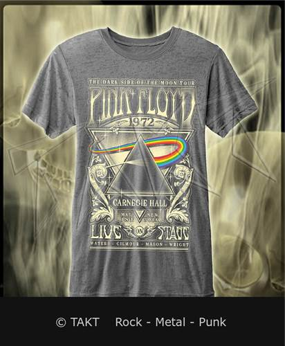 Tričko Pink Floyd - carnegie Hall 2 Grey Imp.