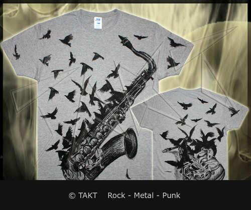 Tričko Saks Crows Grey All Print
