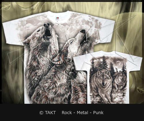 Tričko vlci All Print White