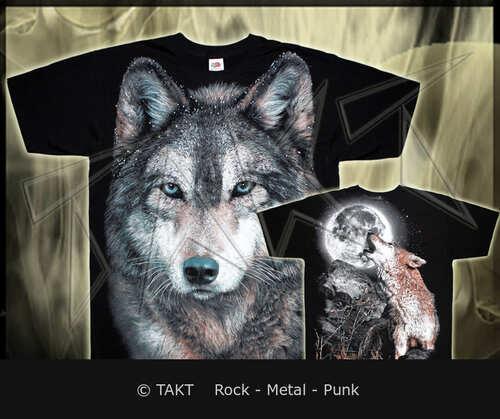 Tričko vlk Forest All Print