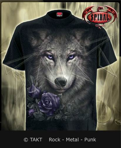 Tričko Wolf Roses Imp.