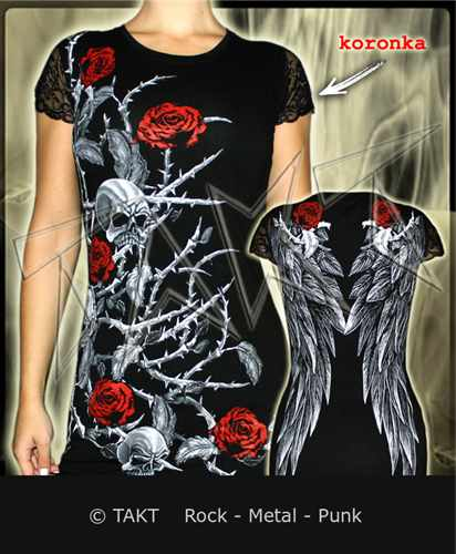 Tunika Roses Koronka All Print