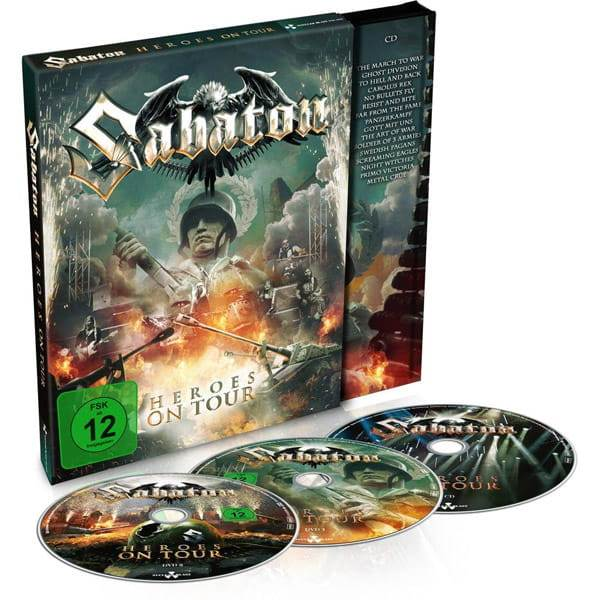 2DVD+CD Sabaton - heroes On Tour Digipack - 2016