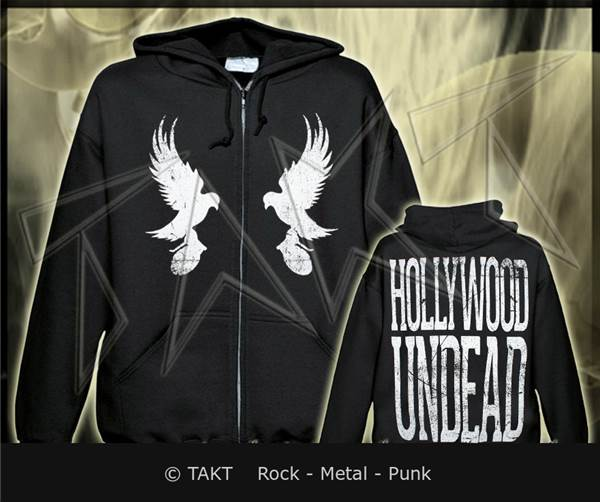 Mikina se zipem Hollywood Undead - mirror Doves Imp.
