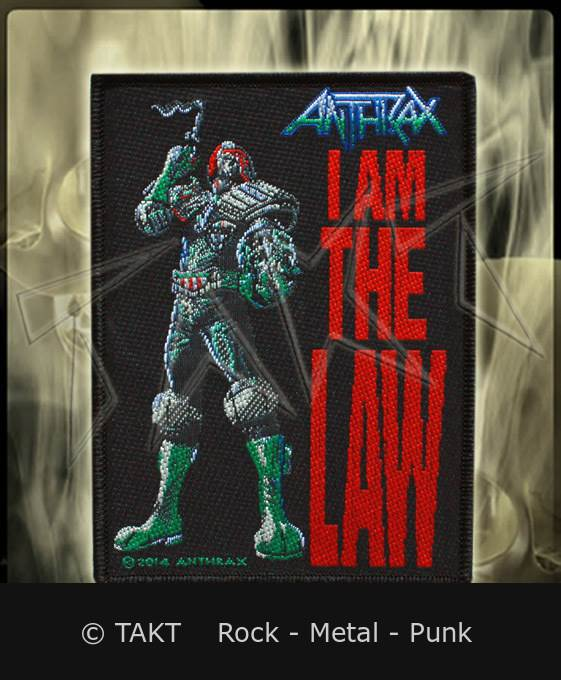 Nášivka Anthrax - i Am The Law