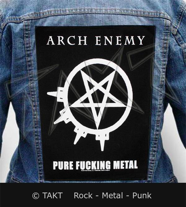 Nášivka na bundu Arch Enemy - pure Fucking Metal