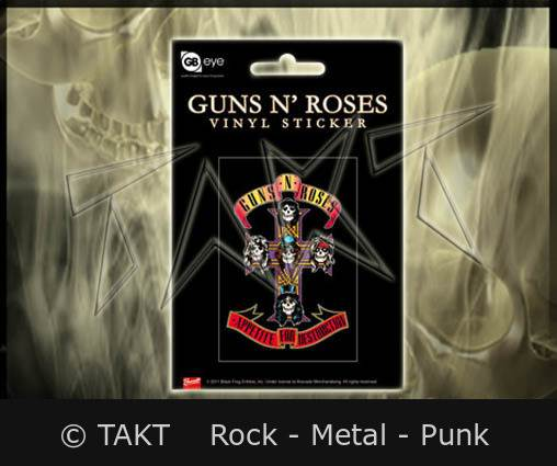 Samolepka Guns n roses - Appetite For Destruction