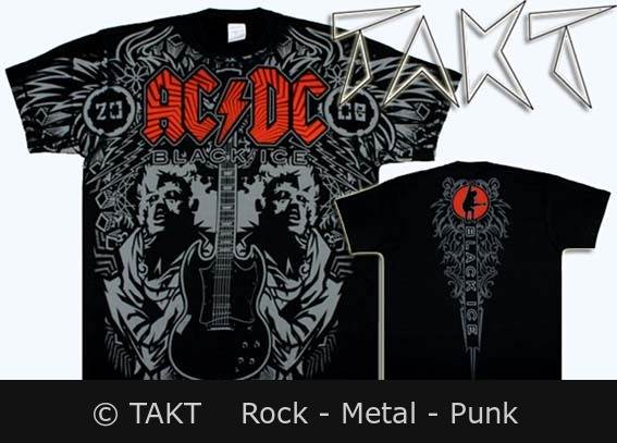 Tričko AC/ DC - Black Ice (all print)