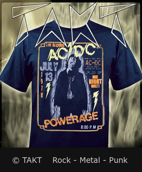 Tričko AC/ DC - Powerage Imp.  Blue