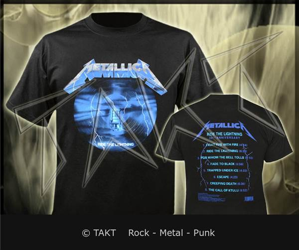 Tričko Metallica - ride The Lightning 3 30th Anniversary Imp.