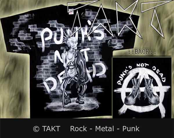 Tričko Punks Not Dead Forever Young - All Print