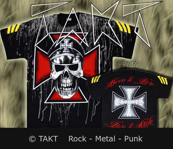 Tričko Rockriders - Skull Cross All Print