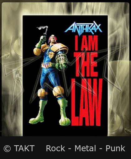 Vlajka Anthrax - I Am The Law